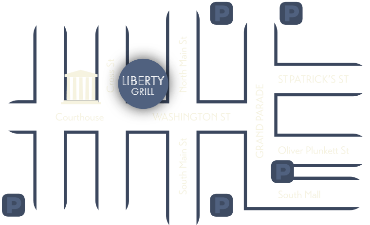 map showing location of liberty grill washington street cork city ireland